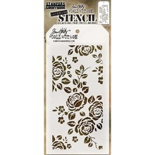 Stampers Anonimous Tim Holtz Roses Layering Stencil (THS075)