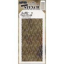 Stampers Anonimous Tim Holtz Woven Layering Stencil (THS082)