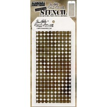 Stampers Anonimous Tim Holtz Grid Dot Layering Stencil (THS083)