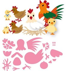 Marianne Design Collectable Eline's Chicken Family (COL1429)