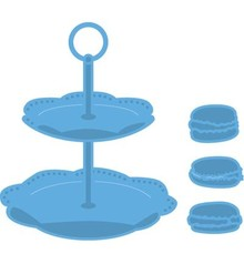 Marianne Design Creatable Tiered Tray & Macarons (LR0463)