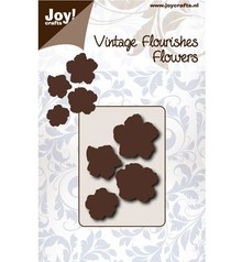 Joy!Crafts Cutting Stencil Vintage Flourishes Bloem 5 Blad (6003/0066)