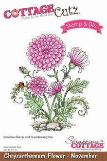 Scrapping Cottage CottageCutz Chrysanthemum Flower - November (CCS-003)