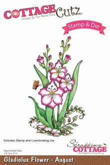 Scrapping Cottage CottageCutz Gladiolus Flower - August (CCS-006)