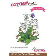 Scrapping Cottage CottageCutz Lilly of the Valley Flower - May (CCS-008)