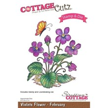 Scrapping Cottage CottageCutz Violets Flower - February (CCS-012)