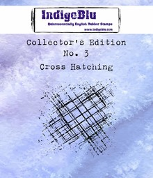 IndigoBlu Collectors Edition 3 Rubber Stamp - Cross Hatching (IND0331)