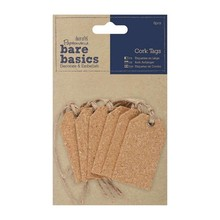 Papermania Bare Basics Cork Gift Tags (6pcs) (PMA 174804)