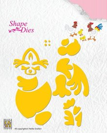 Nellie Snellen Shape Die Build-up Hen & Rooster (SD129)