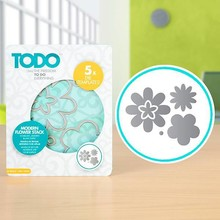 TODO Die Template Set Modern Flower Stack (383642)