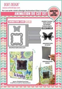 Uchi's Design Animation Die-Cut Set Animation Card (DC101)