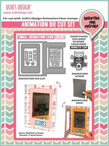 Uchi's Design Animation Die-Cut Set Small Animation Card (DC102)
