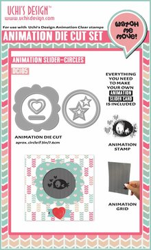 Uchi's Design Animation Die-Cut Set Animation Slider Circles (DC105)