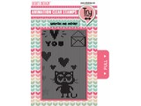 Uchi's Design Animation Clear Stamp Loving Cat (AS3)