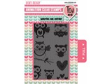 Uchi's Design Animation Clear Stamp Flying Owls (AS6)