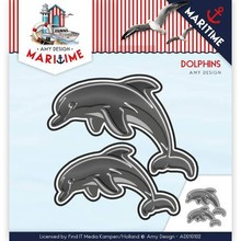 Amy Design Maritime Dolphins Frame Die (ADD10102)