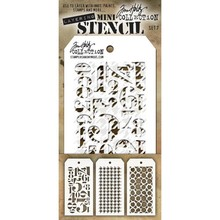 Stampers Anonimous Tim Holtz Mini Layering Stencil Set 7 (THMST007)