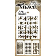 Stampers Anonimous Tim Holtz Mini Layering Stencil Set 9 (THMST009)