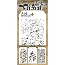 Stampers Anonimous Tim Holtz Mini Layering Stencil Set 10 (THMST010)