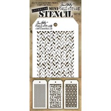 Stampers Anonimous Tim Holtz Mini Layering Stencil Set 13 (THMST013)