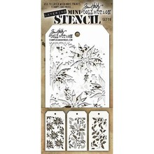 Stampers Anonimous Tim Holtz Mini Layering Stencil Set 19 (THMST019)
