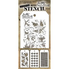 Stampers Anonimous Tim Holtz Mini Layering Stencil Set 22 (THMST022)