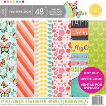Craft Smith Flutterbloom 12x12 Inch Paper Pad (MPP0039)