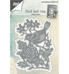 Joy!Crafts Cutting & Embossing Vogel Met Roos (6002/0765)