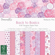 Dovecraft Back To Basics Perfectly Pink 6x6 Inch Paper Pack (DCPAP063)