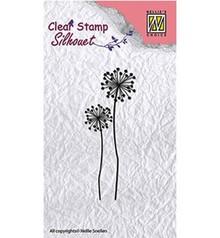 Nellie Snellen Silhouet Flower 9 Clear Stamp (SIL015)