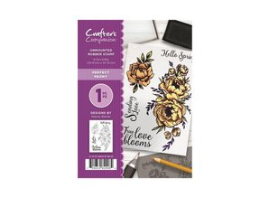 Crafter's Companion Perfect Peony Unmounted Rubber Stamp Set (CC-ST-PP)