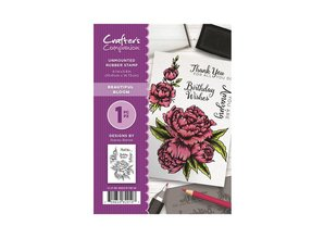Crafter's Companion Beautiful Bloom Unmounted Rubber Stamp Set (CC-ST-BB)