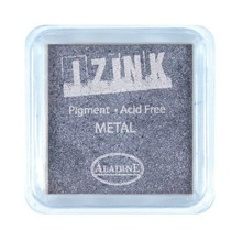 Aladine Inkpad Izink Pigment Metal Silver Blue (19127)