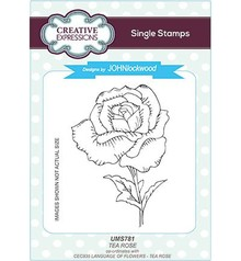 Creative Expressions Tea Rose Cling Stamp (UMS781)