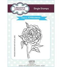Creative Expressions Peony Cling Stamp (UMS782)