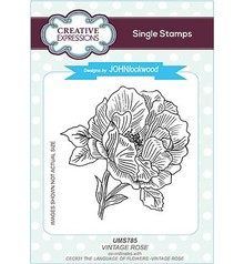 Creative Expressions Vintage Rose Cling Stamp (UMS785)
