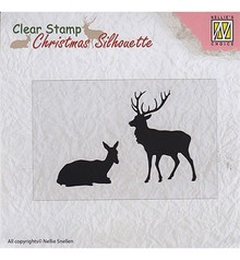 Nellie Snellen Christmas Silhouette Reindeer Clear Stamp (CSIL001)