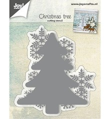 Joy!Crafts Cutting & Embossing Kerstboom Met Sneeuwvlokken (6002/0682)