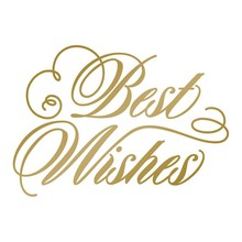 Couture Creations Anna Griffin Hot Foil Stamp Die Best Wishes (CO725292)