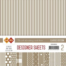 Card Deco Classic Edition Koffiebruin 6x6 Inch Designer Sheets (CDDSKB002)