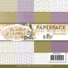 Precious Marieke The Nature of Christmas 6x6 Inch Paper Pack (PMPP10015)