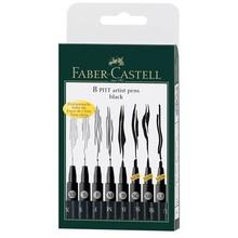 Faber Castell Tekenstift Pitt Artist Pen 8-Delig Etui Zwart (FC-167137)