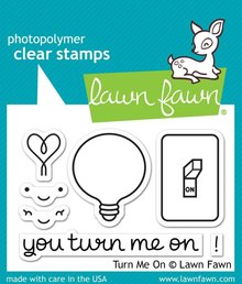 Lawn Fawn Turn Me On Clear Stamps (LF1020)