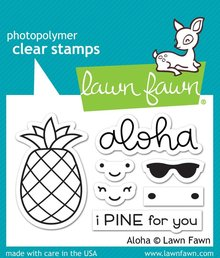Lawn Fawn Aloha Clear Stamps (LF1417)