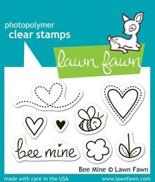 Lawn Fawn Bee Mine Clear Stamps (LF439)