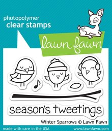 Lawn Fawn Winter Sparrows Clear Stamps (LF565)