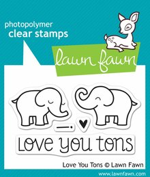 Lawn Fawn Love You Tons Clear Stamps (LF598)