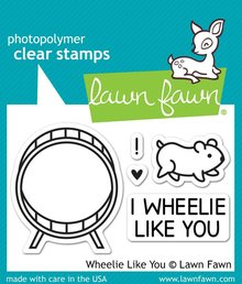 Lawn Fawn Wheelie Like You Clear Stamps (LF838)