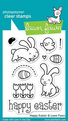 Lawn Fawn Happy Easter Clear Stamps (LF453)
