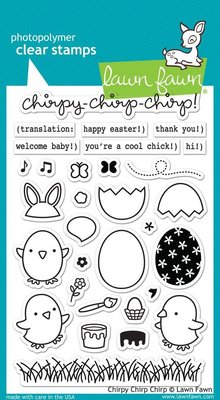 Lawn Fawn Chirpy Chirp Chirp Clear Stamps (LF1046)